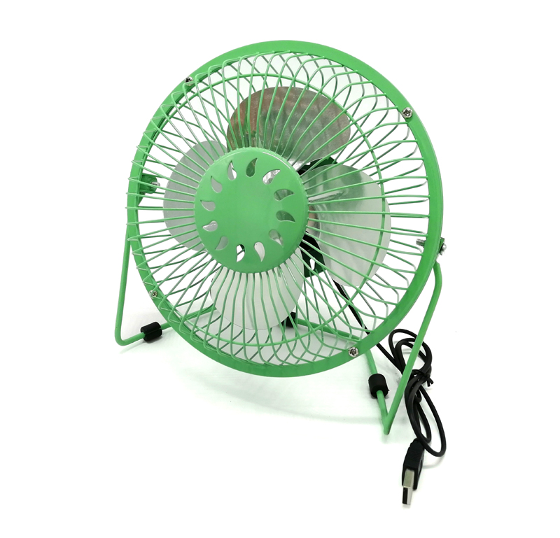 USB Table Fan Ø20cm black/blue/green/pink