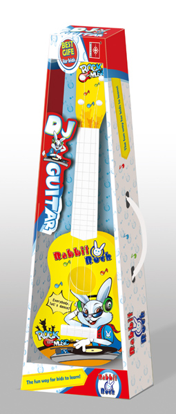 Toy Guitar for Kids DJ Rabbit Rock Music - 41 cm