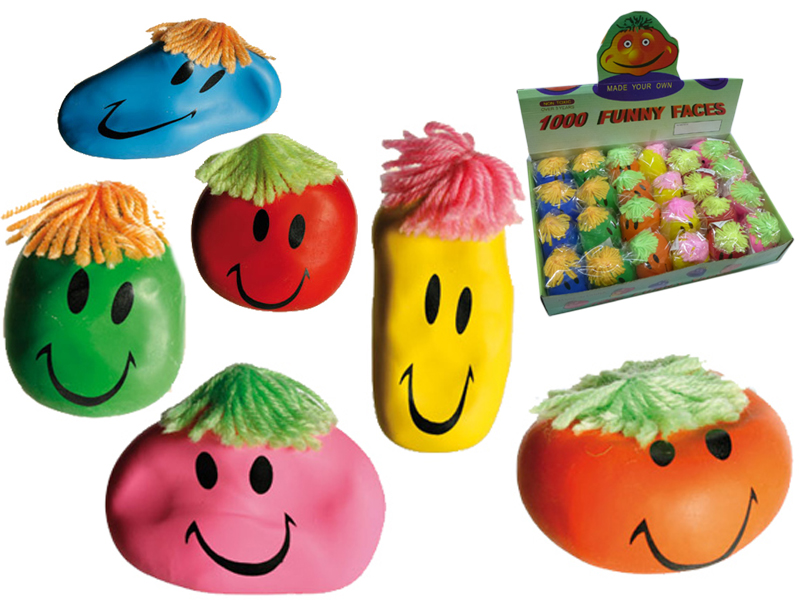 Wutball Antistressball Funny Faces 24er Display