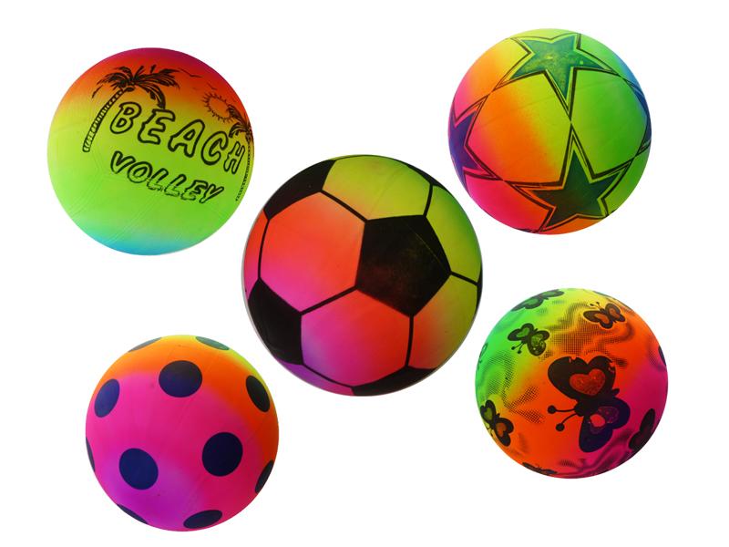 Regenbogen Spielball Fussball Aufblasbar Ca 22cm 31668