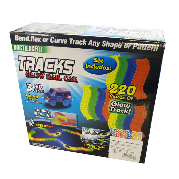 TRACKS Glow Rail Car 220 PCS