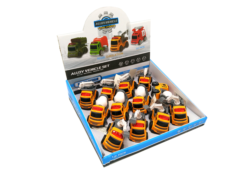 Pull-Back Car Construction Vehicles in 12er Display