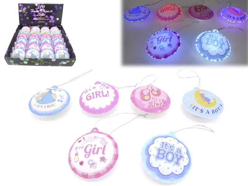LED Blinkdeko für Baby Shower 8cm 24 Stk im Display