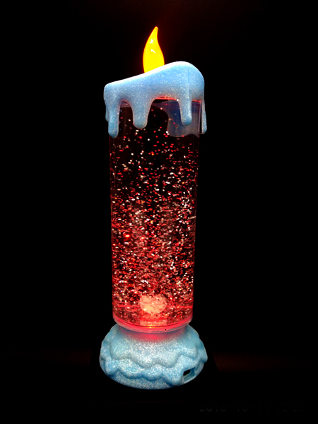 LED Candle with RGB & Snow Globe Effect