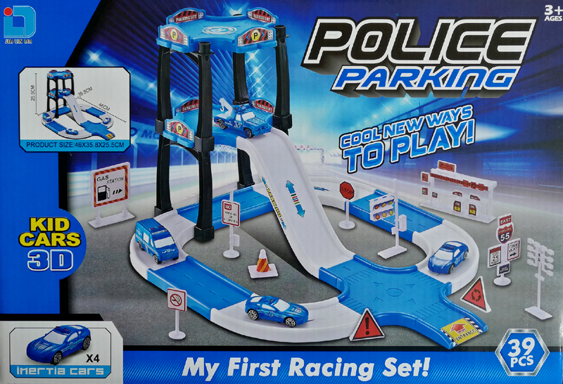 Assembly Toy Police Station Parking 39PCS