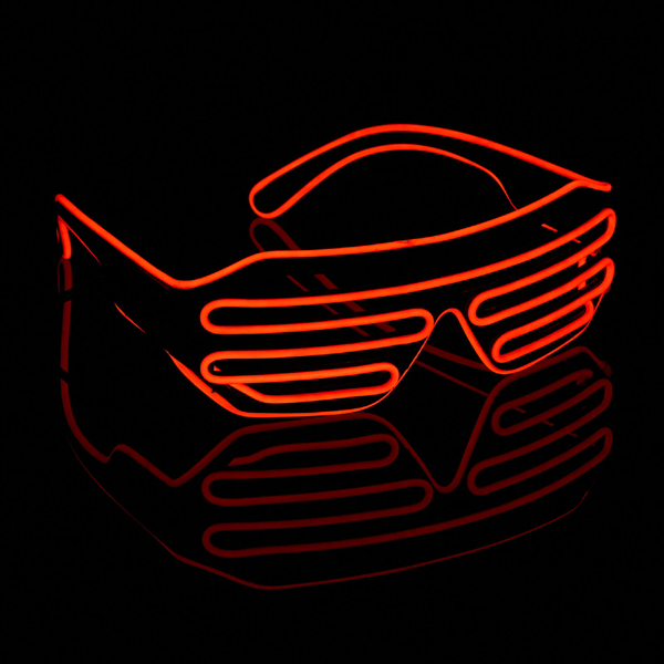 Flashing LED Glasses Neon EL-Wire Light Up Glasses