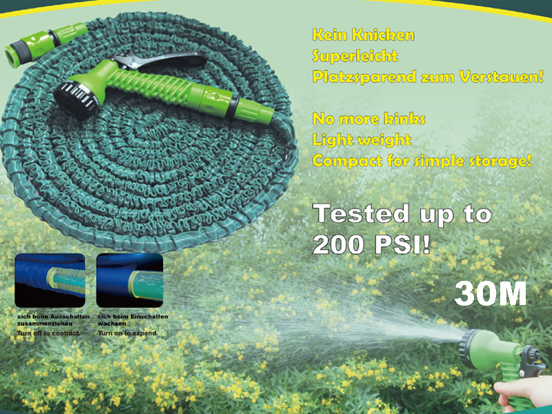 new garden hose with cone 30m good quality