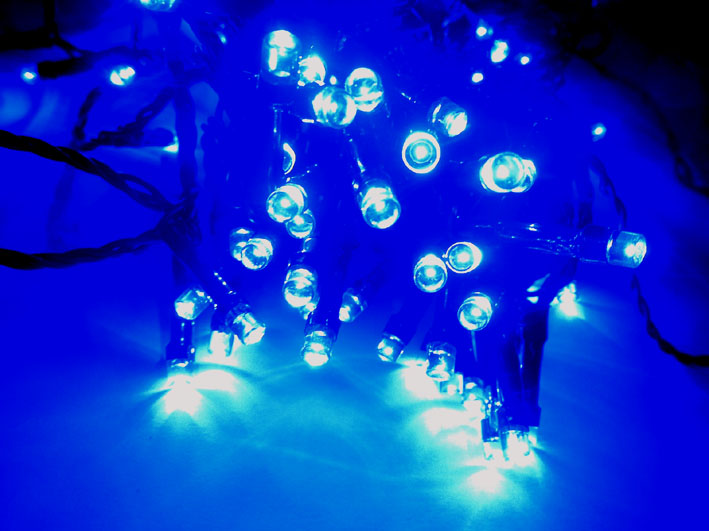 weihnachts led lichterkette blau 10m mit 96 leds 34015. Black Bedroom Furniture Sets. Home Design Ideas