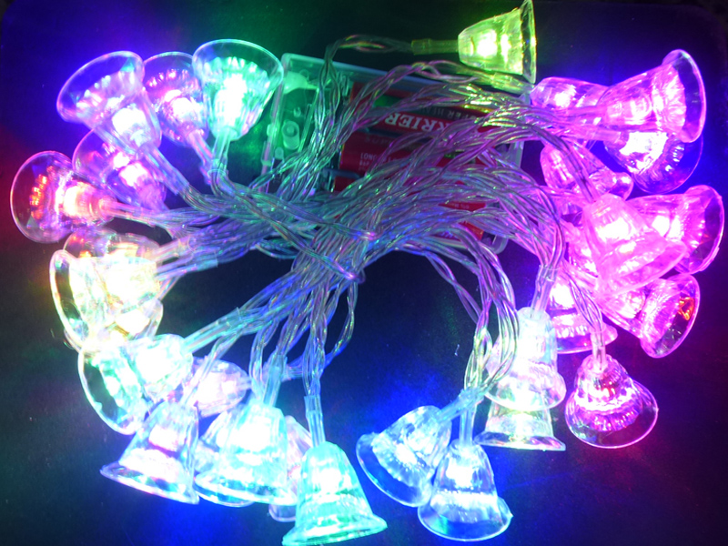 Christmas LED bell chain of lights 3,8 m with 30 Leds