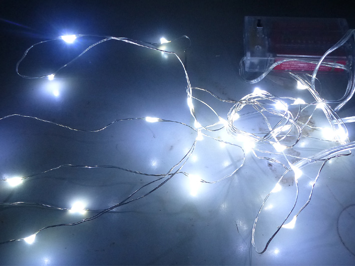 Christmas LED chain of lights copper wire 3m with 30 Leds