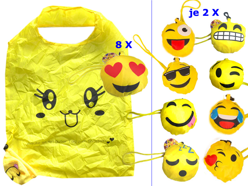 "Smiley Tasche Emoticon "" Mix "", 36cm x 57cm"