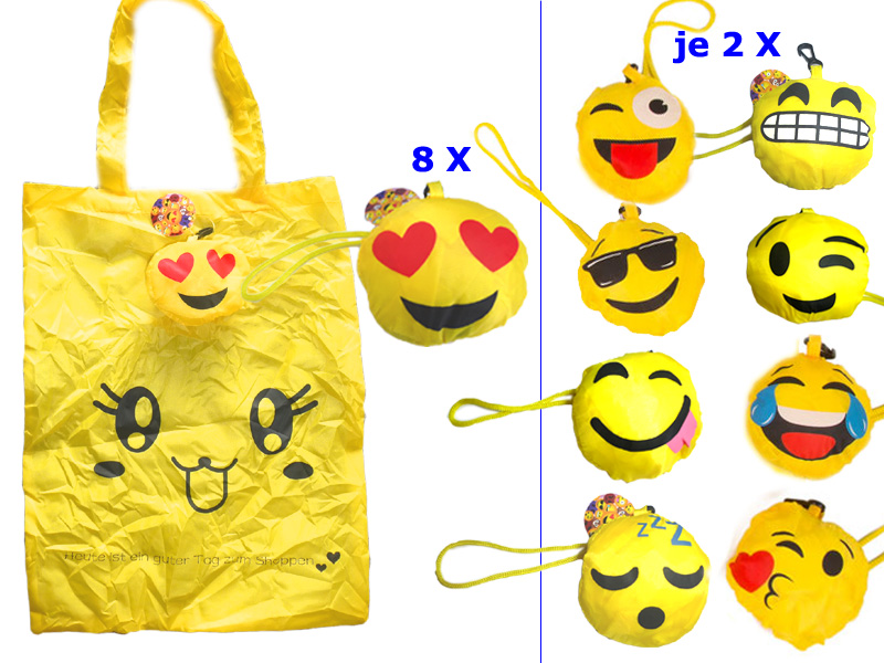 "Smiley Tasche Emoticon "" Mix "", 30cm x 40cm"