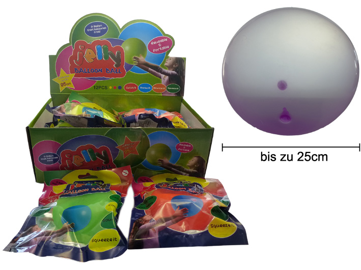 Jelly Ballon Ball Luftblase Spielball 25cm im Display