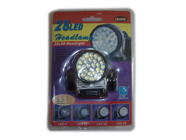 LED head lamp, 28 LEDs