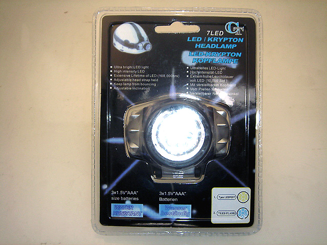 LED head lamp, 7 LEDs